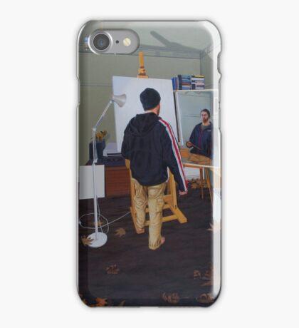 Self Portrait (Mass Effect Hoodie), 2014, Oil on Linen, 121 x 91.5cm. iPhone Case/Skin