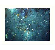 flooded forest (painting) Art Print