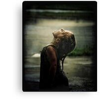 First Taste Of Rain Canvas Print