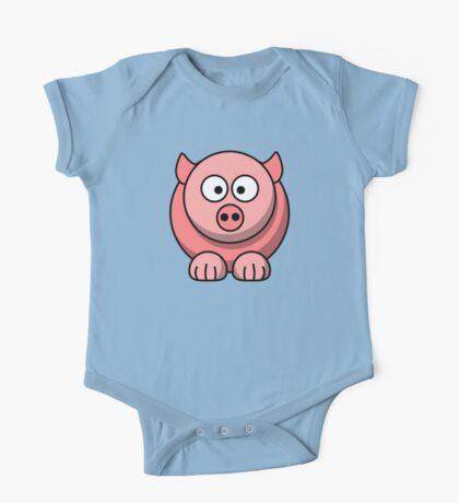 Cute Baby Pig One Piece - Short Sleeve