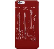 Fender Bass Guitar Patent-1953 iPhone Case/Skin