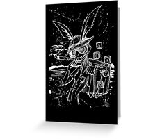 Down The Rabbit Hole (white) Greeting Card
