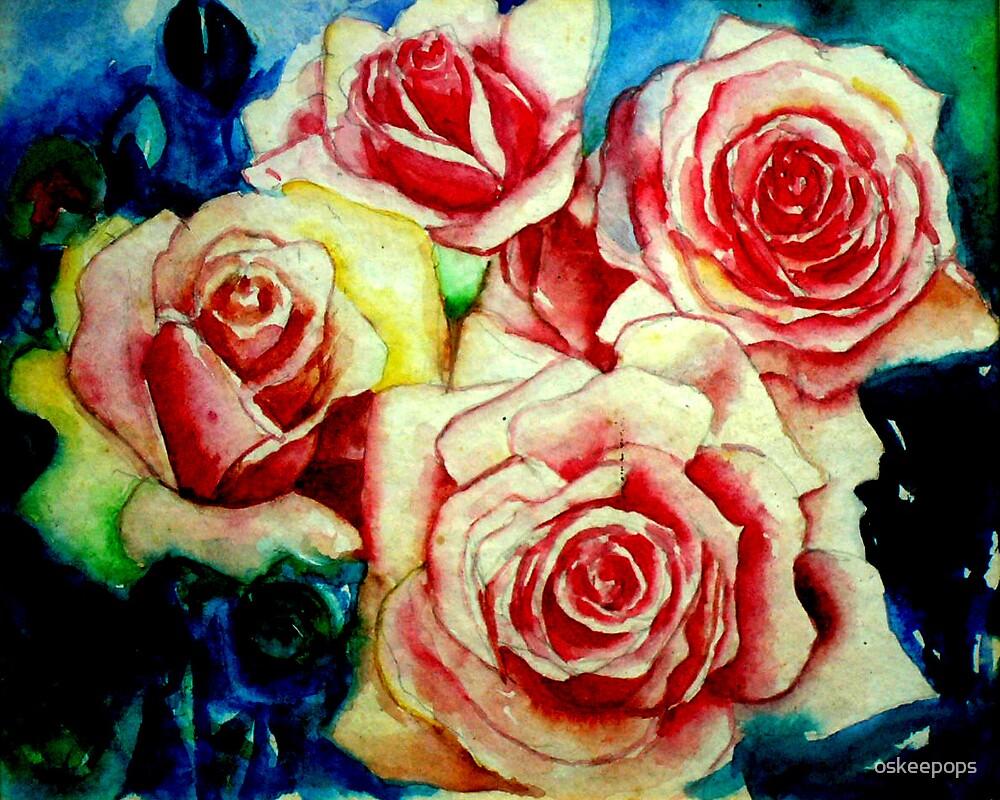 roses by oskeepops