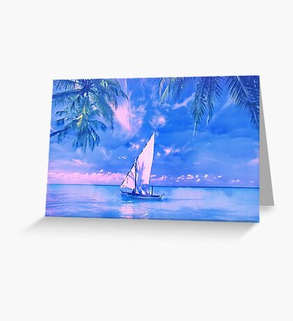 Tropical yachting Greeting Card