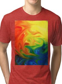 abstract expressionist color colorful hope Tri-blend T-Shirt
