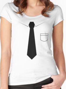 Black tie Women's Fitted Scoop T-Shirt