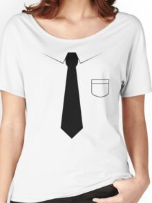 Black tie Women's Relaxed Fit T-Shirt