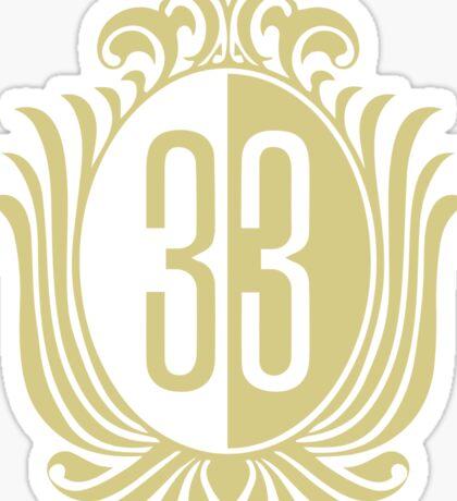 33 Clubin' Sticker