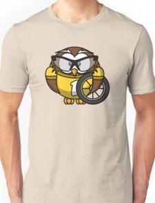 Racer Owl Unisex T-Shirt