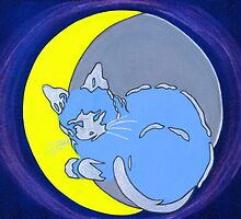 Fe-luna, the cat on a crescent moon by Lev7