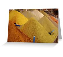 Spices, Spices, & Spices Greeting Card