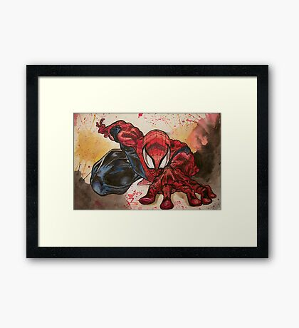 Hey Spidey  Framed Print