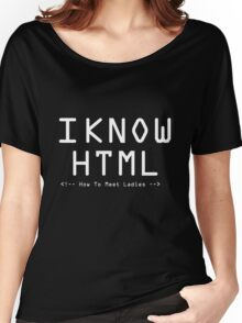 Html - How to meet ladies Women's Relaxed Fit T-Shirt
