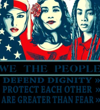 We The People: Stand Together Sticker