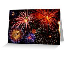 Grand Firework Display Greeting Card