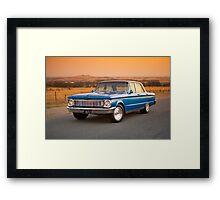 Blue Ford XP at Sunset Framed Print