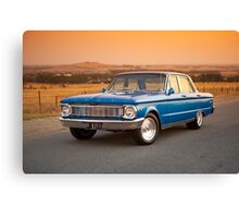 Blue Ford XP at Sunset Canvas Print