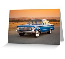 Blue Ford XP at Sunset Greeting Card
