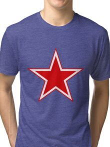 Roundel of the Soviet Air Force Tri-blend T-Shirt