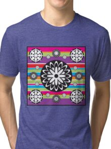 Rainbow Flowers Tri-blend T-Shirt