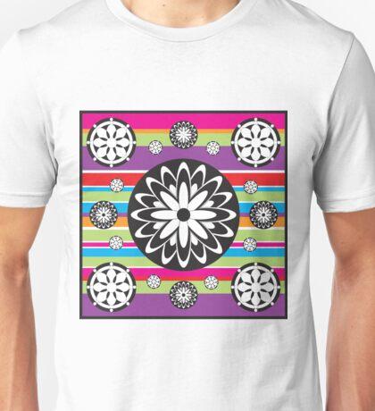 Rainbow Flowers Unisex T-Shirt