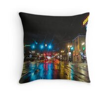 urban downpour Throw Pillow