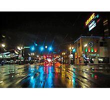urban downpour Photographic Print