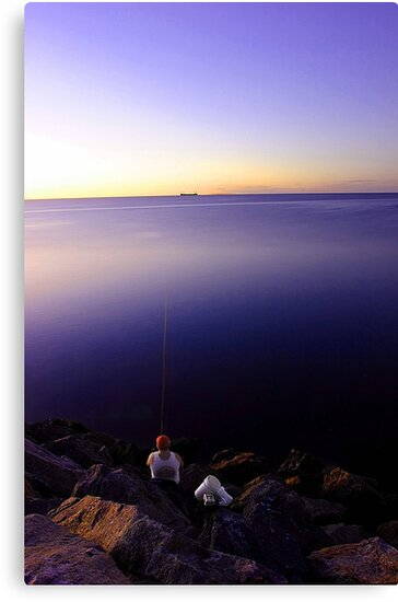 Fishing At Dusk by EOS20