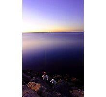 Fishing At Dusk Photographic Print
