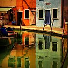 Burano Reflections by Barbara  Brown