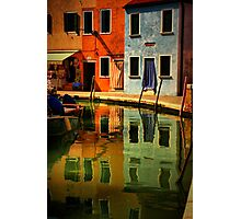 Burano Reflections Photographic Print