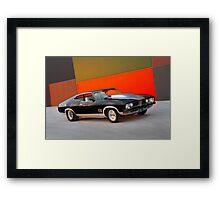 Black Ford XB GT Coupe Framed Print