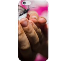 Butterfly catching iPhone Case/Skin