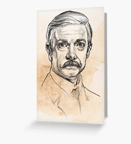 Dr John H. Watson - Martin Freeman Portrait Sketch Abominable Bride  Greeting Card