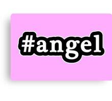 Angel - Hashtag - Black & White Canvas Print
