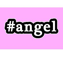 Angel - Hashtag - Black & White Photographic Print