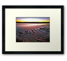 Tide Lines, Hunters Creek, Cape Leveque Framed Print