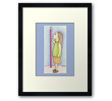 Pencil Girl Framed Print