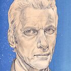 Doctor Who Fan Art Sketch - Peter Capaldi Sketch Portrait Drawing by Christina Smith