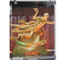 Rockefeller Center Plaza in New York City iPad Case/Skin