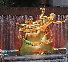 Rockefeller Center Plaza in New York City by Lev7