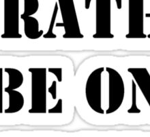 Right Now, I'd Rather Be On A Cruise - Black Text Sticker