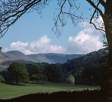 Looking back from Ambleside to Rydal Lake District England 198405200003 by Fred Mitchell