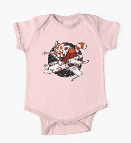 Red Panda, Standing By One Piece - Short Sleeve