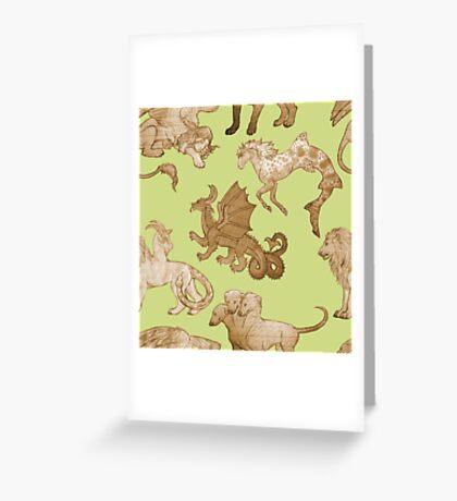 Bestiary Greeting Card
