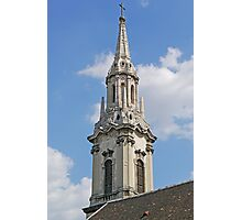 Spire of Franciscan Church, Budapest Photographic Print