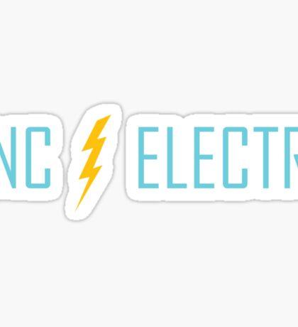 UNC Electra Lightning bolt Sticker