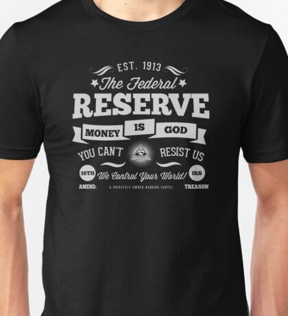 Federal Reserve Funny Promotional Logo Unisex T-Shirt