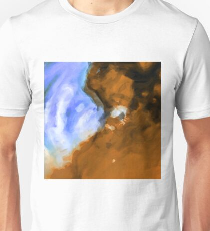 blue and brown painting texture abstract background Unisex T-Shirt