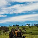 Tractor under Blue Skies by Candice84